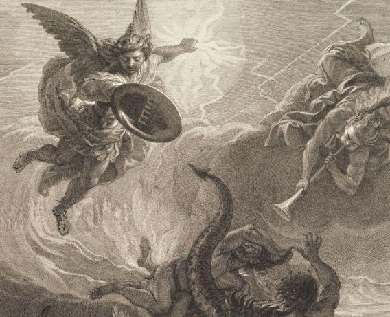 San Miguel Arcángel y la expulsión de los ángeles rebeldes