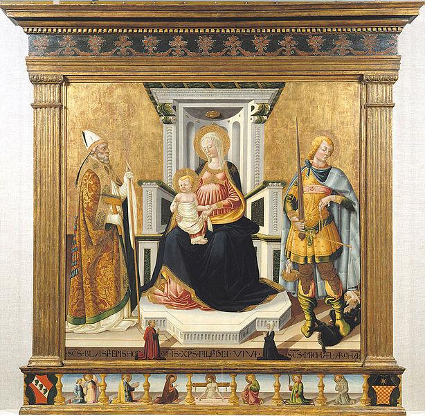 La Virgen y el Niño con San Miguel Arcángel y San Blas