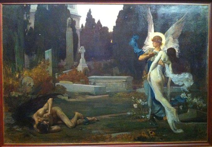 San Miguel Arcángel llevando al cielo a una alma