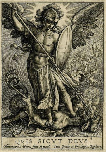 San Miguel Arcángel triunfa sobre el diablo