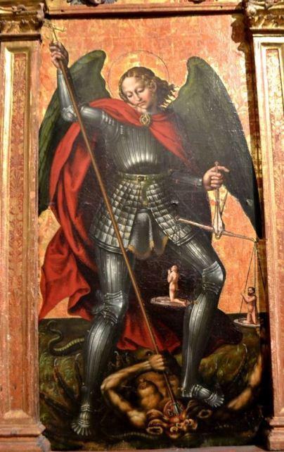 San Miguel Arcángel venciendo al demonio