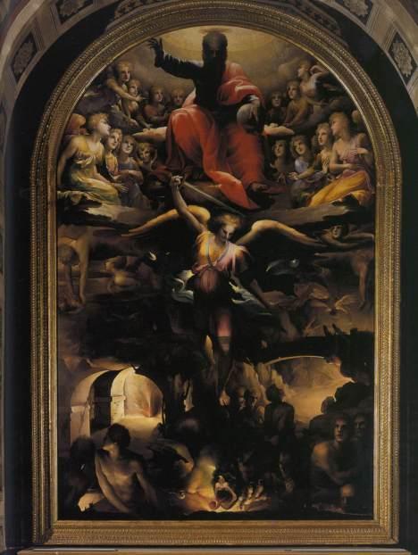 San Miguel Arcángel y la caída de los ángeles rebeldes