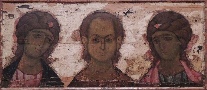 Cristo Emmanuel con los Arcángeles Miguel y Gabriel