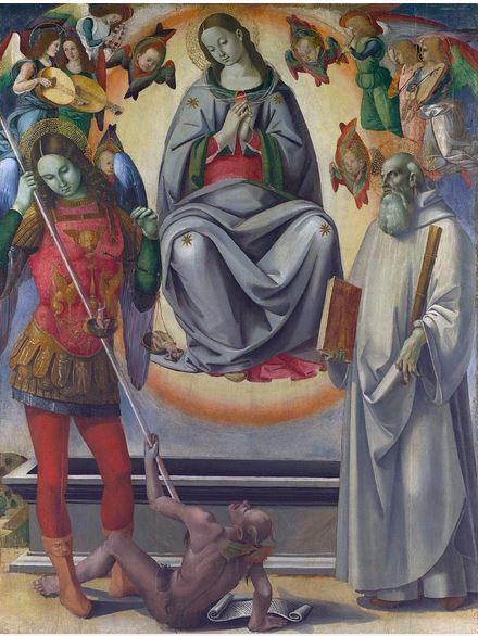 La Asunción de la Virgen con los santos Miguel Arcángel y Benedicto