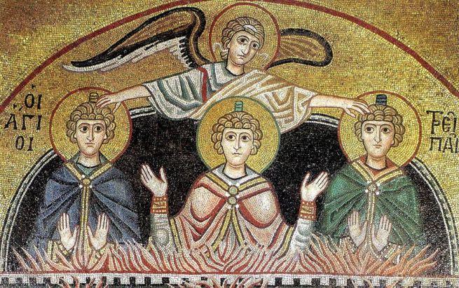San Miguel Arcángel en el horno ardiente