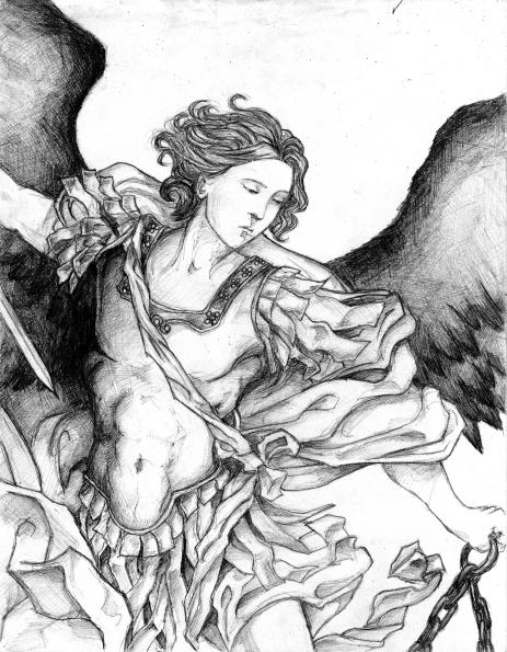 San Miguel Arcángel en lucha con Satanás