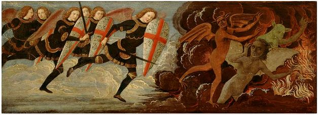 San Miguel Arcángel en lucha contra los ángeles rebeldes