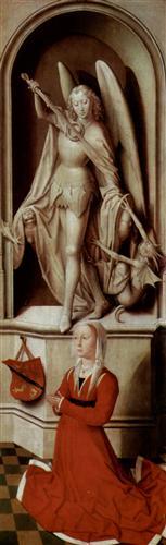 San Miguel Arcángel y Catalina Tanagli en el Juicio final