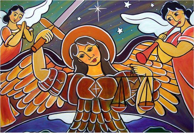 San Miguel Arcángel y los ángeles