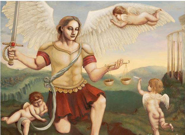 San Miguel Arcángel y los querubines