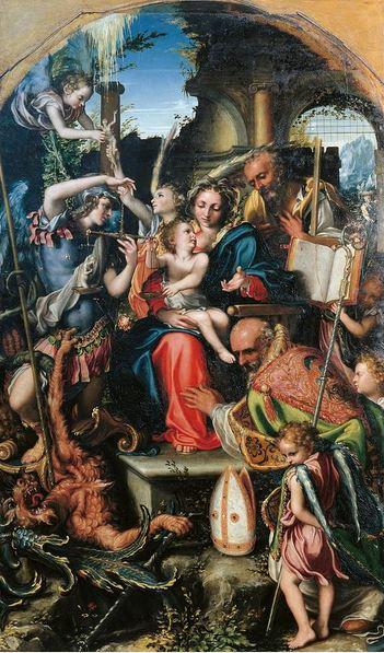 San Miguel Arcángel en el pesaje de almas
