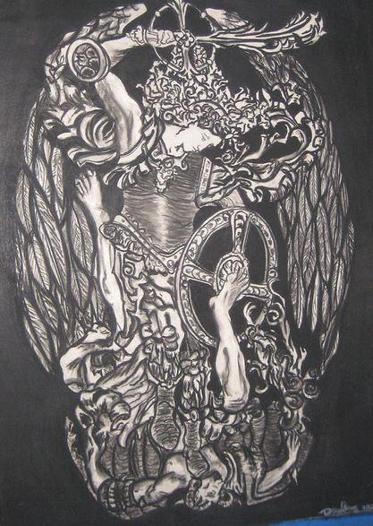 San Miguel Arcángel luchando contra Lucifer