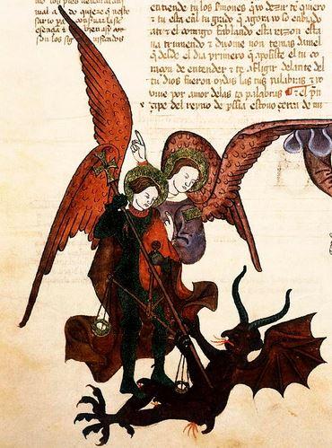 San Miguel Arcángel y Satanás