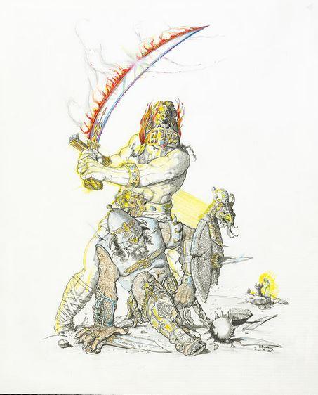 San Miguel Arcángel derrotando al Príncipe de Persia