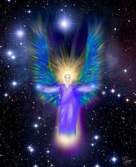 San Miguel Arcángel irradiando su luz