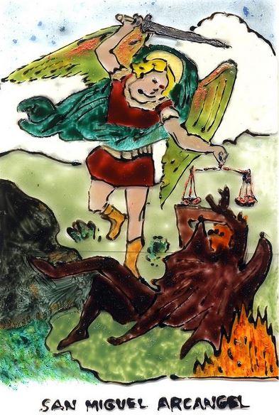 San Miguel Arcángel luchando contra el Demonio