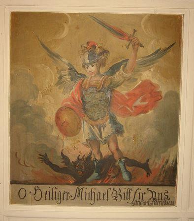 San Miguel Arcángel derribando al Demonio