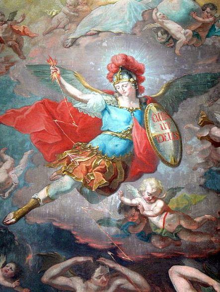 San Miguel Arcángel y la caída de los ángeles