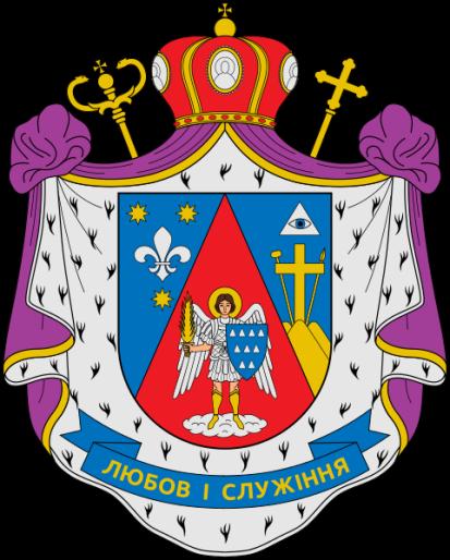 Arcángel San Miguel en escudo de armas