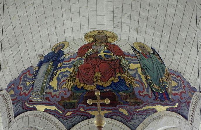 San Miguel Arcángel, Cristo y la Virgen
