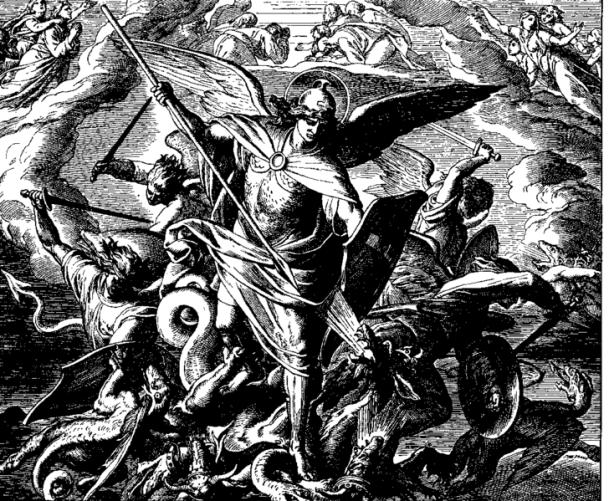 San Miguel Arcángel en la batalla contra el maligno