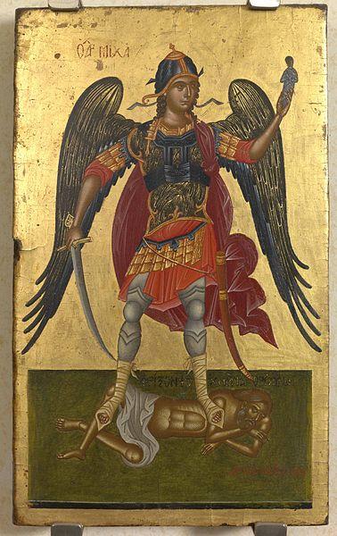 El arcángel Michael siglo decimoséptimo