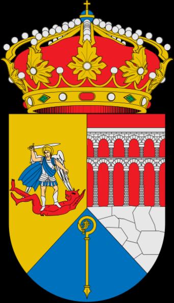 Escudo con San Miguel Arcángel abatiendo al demonio