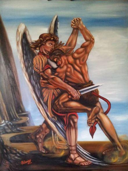 San Miguel Arcángel en batalla contra el maligno