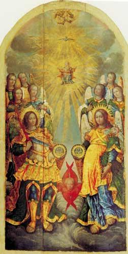San Miguel Arcángel y la santísima trinidad