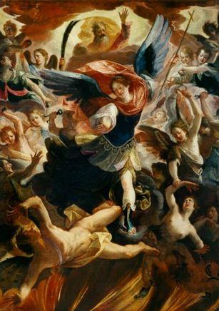 San Miguel venciendo al demonio