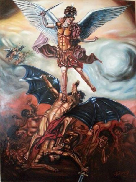 El príncipe celestial derrotando a la bestia
