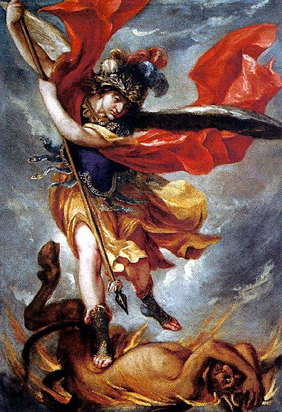 La victoria del Arcángel San Miguel contra la bestia