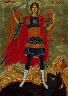 San Miguel Arcágel con su espada y su balanza