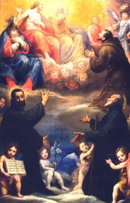 San Miguel Arcángel presentando a San Cayetano a la Santísima Trinidad