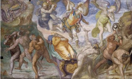 San Miguel en defensa de Moisés