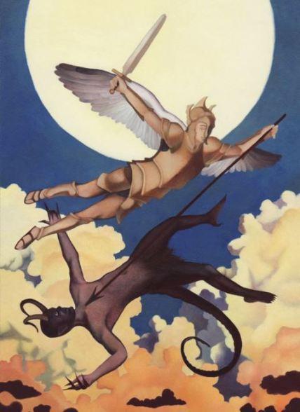 San Miguel luchando contra el maligno