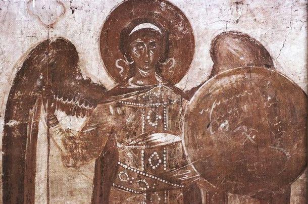 Arcángel San Miguel con su escudo