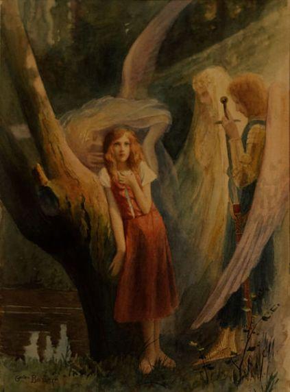San Miguel Arcángel con Juana de Arco