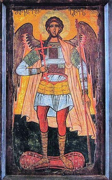 San Miguel Arcángel con la cruz