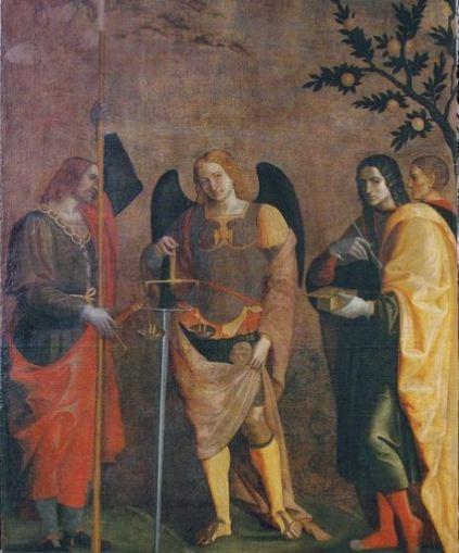 El Arcángel San Miguel con San Cosme y San Damián