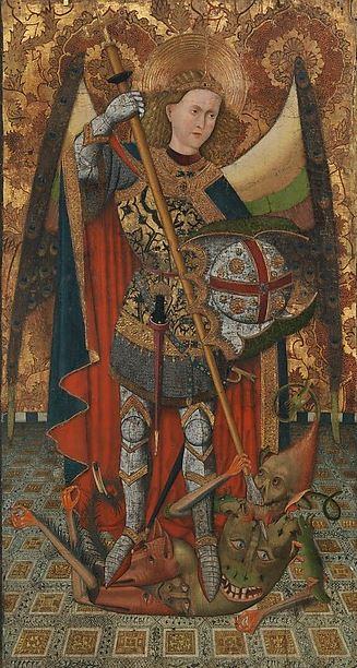 El príncipe de la milicia celestial en lucha contra Lucifer