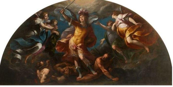 San Miguel Arcángel que vence al diablo