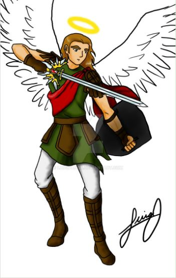 San Miguel con su espada