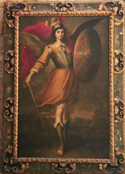 San Miguel triunfante ante el demonio
