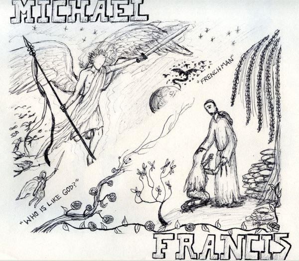 Aparición del Arcángel San Miguel a un hombre francés