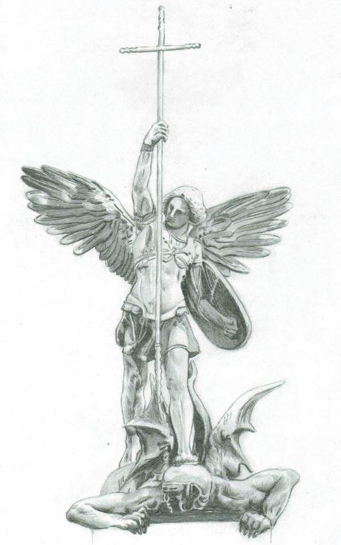 Miguel Arcángel venciendo al Príncipe de las tinieblas