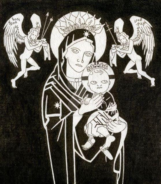 San Miguel Arcángel con la Virgen del Perpetuo Socorro