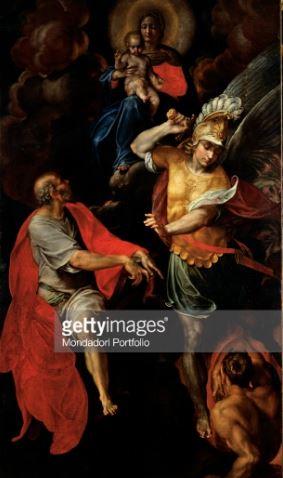 San Miguel Arcángel con la Virgen, el niño y San Juan evangelista