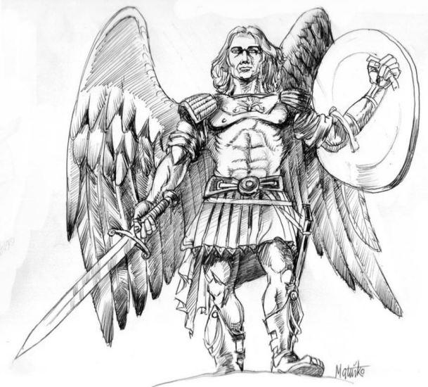 San Miguel Arcángel con su espada y escudo_1