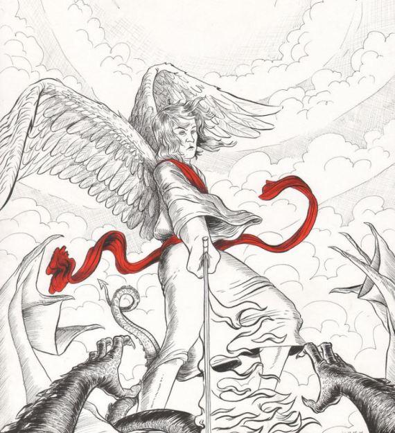 San Miguel en batalla contra el dragón